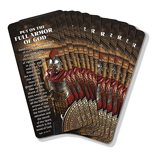 Full Armor of God Bronzed 7 x 2.5 Acrylic and Paper Keepsake Bookmarks Pack of 12