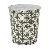 JVL Papelera geométrica, color gris, 27 x 25 cm, polipropileno, tamaño...