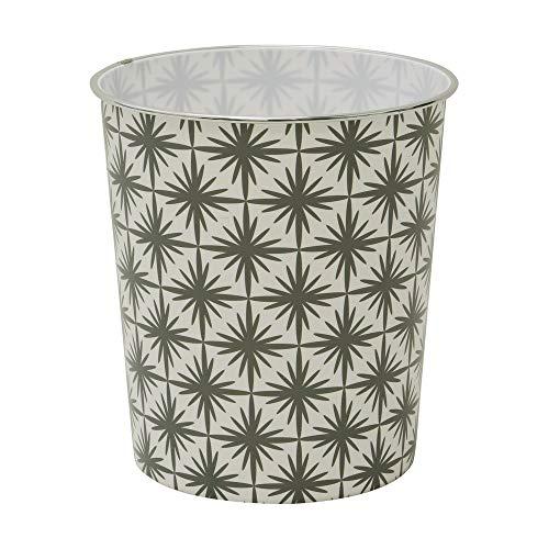JVL Papelera geométrica, color gris, 27 x 25 cm, polipropileno, tamaño pequeño