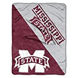 NORTHWEST NCAA Mississippi State Bulldogs Micro Raschel Throw Blanket, 46' x 60', Halftone