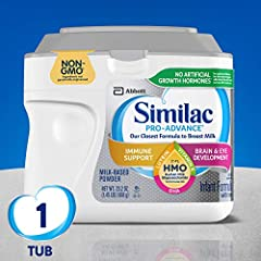 IMMUNE SUPPORT: Similac Pro-Advance is the first infant formula with 2'-FL human milk oligosaccharide, designed to be closer than ever to breast milk. (Not from human milk.) NO ARTIFICIAL GROWTH HORMONES: Similac is the first leading infant formula b...