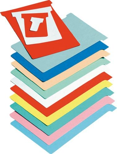 Nobo Kartentafel Zubehör T-Karten in Blisterverpackung, Größe 2, 100 Stück, blau