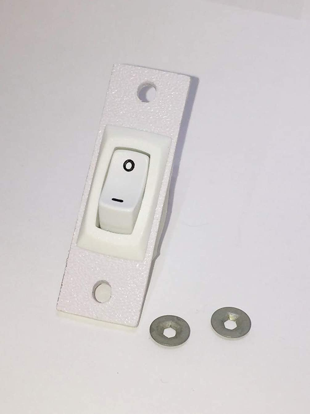 Jenn-air Cooktop Stove Fan Switch (White Color) Replacement (Not Original) 2 Wire Kit 12200039