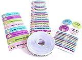 Pack 155 etiquetas personalizadas para marcar ropa y objetos. 100 Etiquetas de...