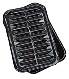 Range Kleen BP106X 2 PC Porcelain Broil and Bake Pan 12.75 Inch by 8.5 Inch,Black