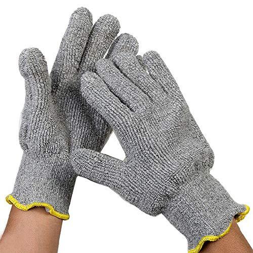 YQQWN Hitze- und feuerfeste Handschuhe, Industriehandschuhe, Lange Gartenhandschuhe mit Kamin, für Grill, Backöfen, Grill, Kamin, Herd, Schweißen usw, für Männer und Frauen