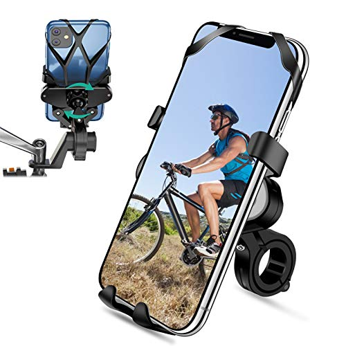 """SYOSIN Soporte Movil Bicicleta, Soporte Movil Moto 360° Rotación Universal Manillar Motocicleta Montaña para iPhone X/XR/XS MAX, para Samsung Galaxy, Xiaomi, Huawei (4""""-7"""")"""