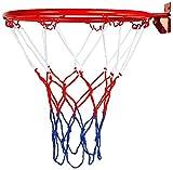 CLQ Reemplazo de llanta de Baloncesto Colgante de aro de Canasta de Baloncesto montado en la Pared con Tornillo de Red para Exteriores e Interiores 32 cm / 12,6 Pulgadas