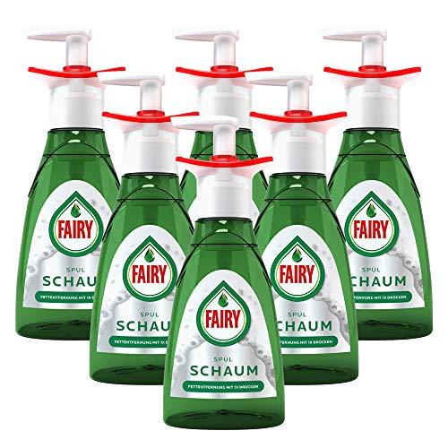 Fairy Handspülmittel Geschirrspülmittel Spülschaum Pumpflasche Starter 350ml Nachfüllbar (6er Pack)