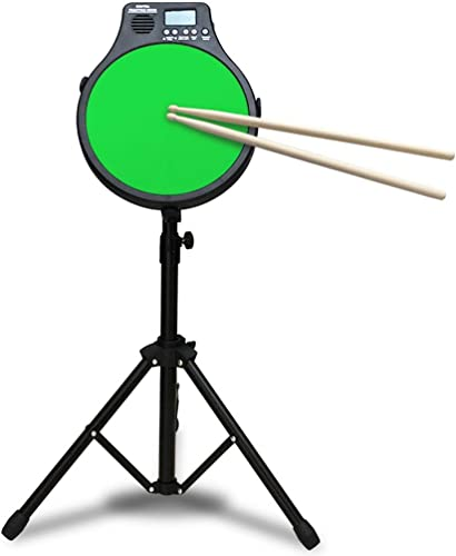LINGLING-Trommel Percussion Drum Dumb Drum Metronom 12 Zoll Dumb Drum Pad Drei-in-1-Funktions-Musikinstrument Geschenk Für Kinder (Farbe   Grün)