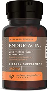 Endur-acin - 250mg Extended Release for Optimal Absorption & Low-Flush Niacin (Vitamin B-3), 200 Tablets - Non-GMO, Vegan,...