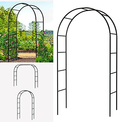 Arche à Rosiers tuteur roses Arche de Jardin Metal arceau rosiers pour Soutien Plantes Grimpante Terrasse Patio Jardin Archway Décoration de Jardin (Vert Foncé)