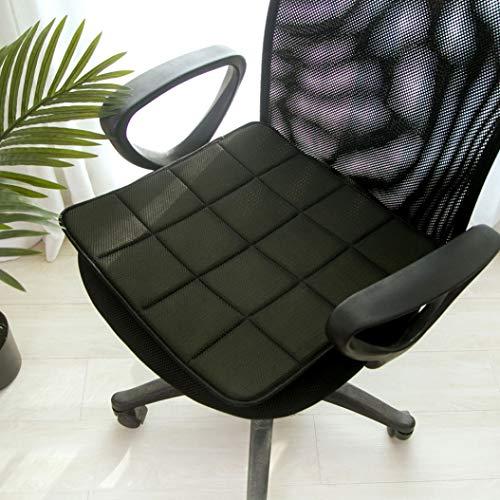 OLEEKA Cojín de Asiento de Silla de carbón de bambú Asiento de enfriamiento Transpirable Estera de sofá Sofá de ventilación para automóvil Cojín de Asiento Delgado para Oficina en casa