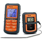 ThermoPro TP07 Thermomètre de Cuisson Numérique Sans Fil et À Distance Thermomètre pour Viande Dinde Grill Four Cuisine Fumoir Barbecue avec Donde, Portée de 90M