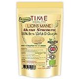 Melena de León Orgánica - Ultra Potente 50% Beta 1,3/1,6 D Glucano (Hericium Erinaceus) (60 cápsulas por bolsa)