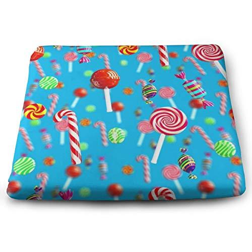 Memory Foam Pad zitkussen. Autostoel kussens om hoogte te verhogen - bureaustoel comfortabel kussen - heldere zoete snoepjes