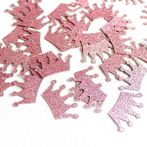 Partido de la Boda de Papel de Oro 100pc / Paquete Diamante Corona Glitter Rose Confeti 3 cm de Navidad Año Nuevo dispersión de la Tabla de la decoración DIY Supplie (Color : Rose Gold Crown)