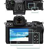 Z6II Z7II Bildschirmschutzfolie für Nikon Z 7II / Z 6II + Top [2 + 2 Stück], Ulbter 0,3 mm 9H Festigkeit Z7 II Z6 II Hartglas-Abdeckung, Anti-Kratzer, Anti-Fingerabdruck, blasenfrei, 3 Stück