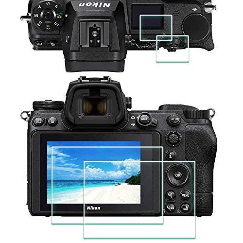 Z6II Z7II Top + Displayschutzfolie für Nikon Z 7II / Z 6II Kamera [2 + 2 Stück], ULBTER 0,3 mm 9H Härte Z7 II Z6 II Hartglas-Abdeckung Anti-Scrach Anti-Fingerabdruck Anti-Blasen - 3 Stück