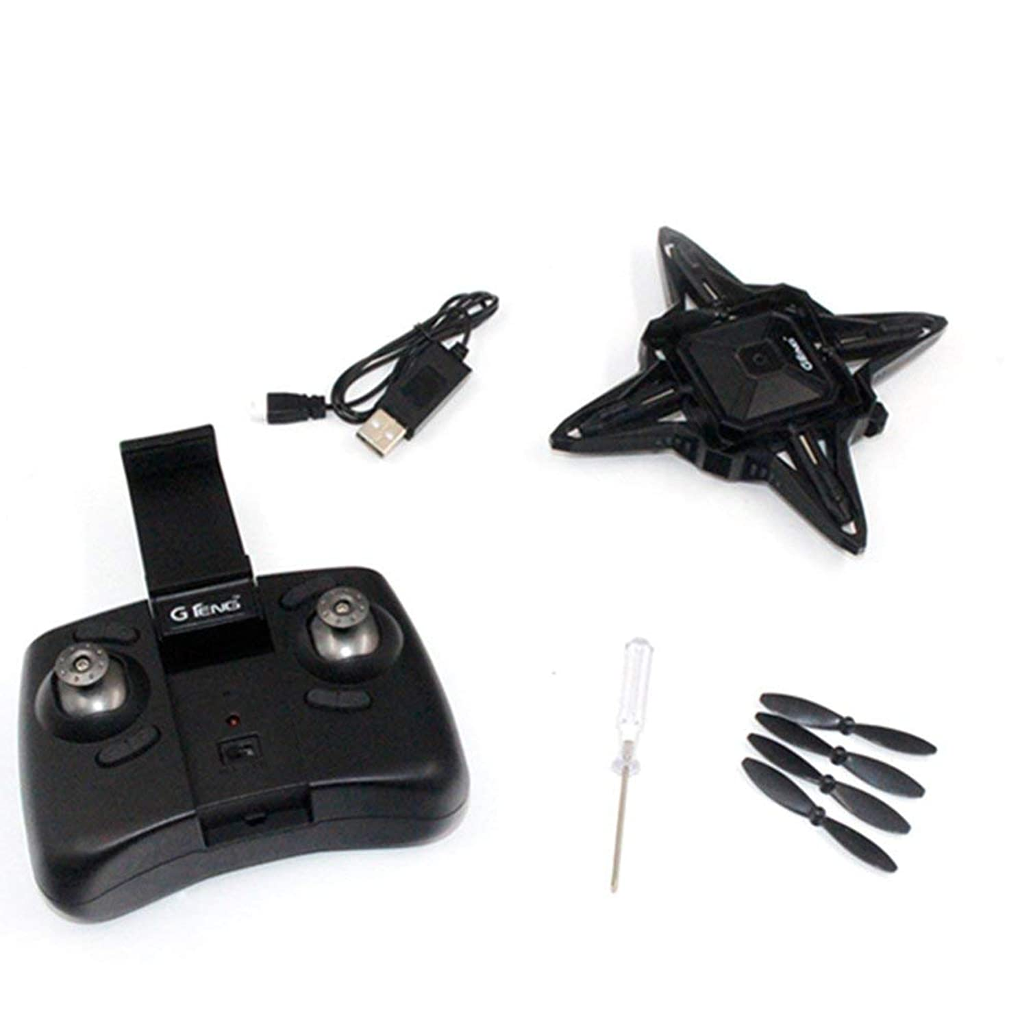 Gteng T911W 2.4G Quadcopter with Altitude Hold Wifi Real-time Transmission Black