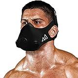 TRAININGMASK Training Mask 2.0 Elevation Training Mask | Gym Fitness Workout Mask for Running, Cardio, and Endurance (Black, Medium)