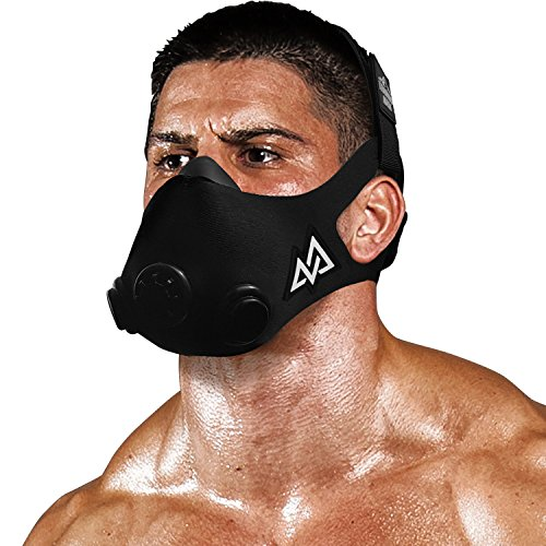 TRAININGMASK Training Mask 20 | Gym Workout Mask – for Cardio Stamina Running Endurance and Breathing Performance Official Training Mask Used by The Pros} Black Medium