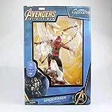 HXLF Vengadores Capitán Marvel 22-27cm Thanos Ironman Spiderman Deadpool Danvers Estatua Figuras de acción de PVC de Iron Studios KO Figuras de Juguete (Color : 6)