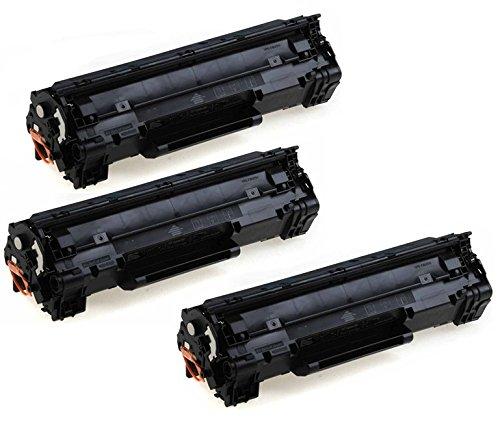 3color® Toner voor HP Laserjet P1005 P1006 P1007 P1008 3x Toner zwart