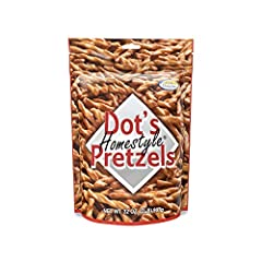 🥨HOMESTYLE – Dot's Pretzels came from humble beginnings in a North Dakota farm town. Made is small batches with the same process that Dot started nearly a decade ago in her home kitchen, every bag is packed with love. 🥨GOURMET SNACK – Dot's Pretzel t...