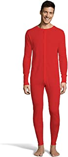 Hanes X-Temp Mens Organic Cotton Thermal Union Suit/_Red/_S