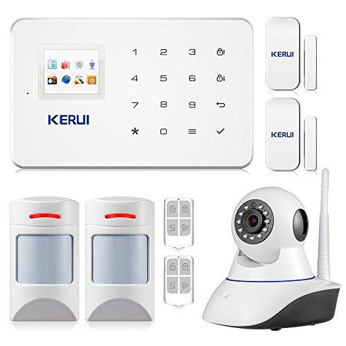 avis alarme maison compatible animaux professionnel KERUI – Système d'alarme domestique sans fil G18 Anti-Theft + Smart Alarm Caméra IP WiFi Security…