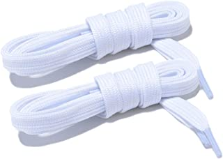 Wide Flat Athletic Shoelaces with Wide Shoelaces Flat Shoe Laces [2 Pairs] [6 Color][8 Size] for Sneakers and Shoes