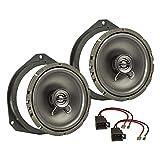 tomzz Audio 4039-006 - Set di altoparlanti da incasso compatibile con Opel Astra H Corsa D Corsa E 165 mm, sistema coassiale TA16.5-Pro
