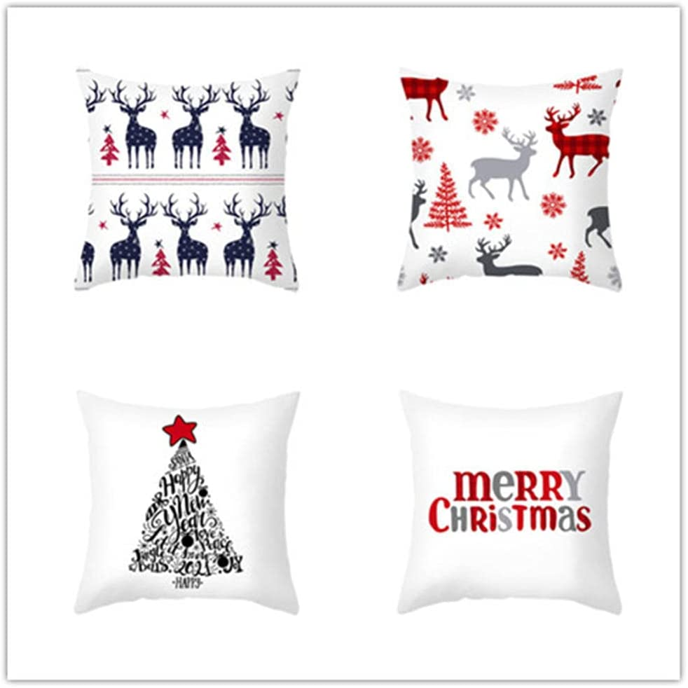 4 Pieces Throw Pillow Cover 22x22 Double 2021 new Linen Fees free Sq Sided Printing