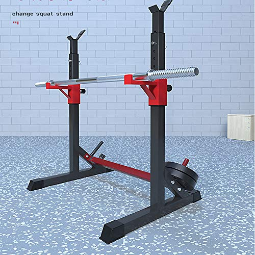 Van Alderman Adjustable Squat Rack Multi-Function Barbell Rack Dip Stand Barbell Stand Weight Lifting Rack Home Gym Fitness Weight Lifting Bench Press Dipping Station