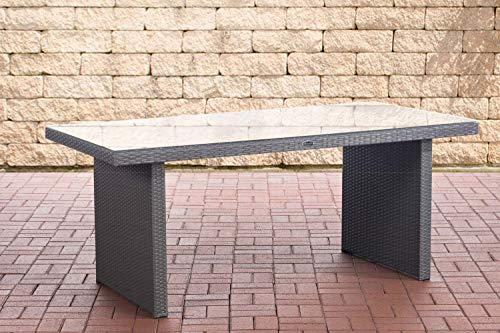 CLP Polyrattan Tisch Avignon I Gartentisch Aus Flachrattan I Esstisch In Verschiedenen Größen, Farbe:grau, Größe:180 cm