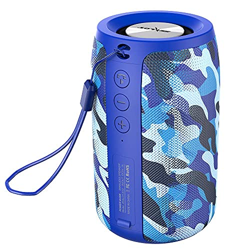 Wireless Bluetooth Speakers Zealot S32 Mini Portable Speaker Clear Calls/Micro SD Card/U Disk/Line-in Modes for Yoga Gym Audiobooks Competible for iOS Andriod -Blue (Renewed)