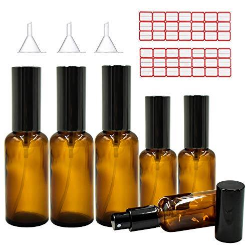 GeekerChip Bote Spray Botella[6 Pcs],Atomizador de Viaje Conjunto de Botellas con Atomizador Bombas 50ml+100ml para aceites esenciales Viajes Perfumes