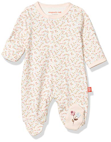 Magnificent Baby Baby Magnetic Fastener Cotton Footie, Bedford Floral, Newborn (5-8 lb)