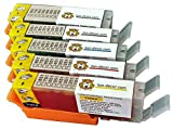 Juego de cartuchos de tinta comestibles (5 unidades) PGI-550 CLI-551 para Canon IP7250, MG5450, MG5550, MG5650, MG6450, MG6650, IX6850 (A3), MX725, MX925