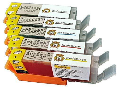 Set di cartucce TK171-TK175 a inchiostro alimentare con chip (PGI-570/CLI-571) per Canon MG5750, MG5751, MG5752, MG5753, MG6850, MG6851, MG6852, MG6853, TS5050, TS5051, TS5053, TS6050, TS6051, TS6052