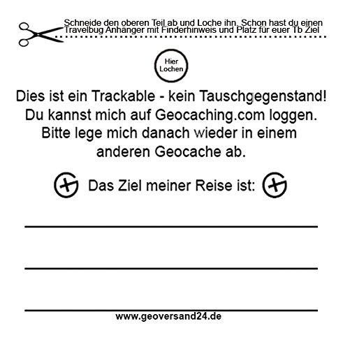 geo-versand 5 x Travelbug Anhänger Finderhinweis Trackable TravelTag Geocaching Stashnote Tb