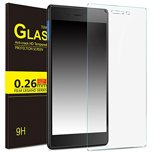 IVSO Lenovo Tab 7 Essential Cristal Templado Protector, Premium Protector de Pantalla de Vidrio Templado para Lenovo Tab 7 Essential 7 Inch Tablet (Tempered-Glass - 1 Pack)