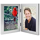 Cardinal Condolence Sympathy Gift - Sweet Poem Honoring The Deceased - Remembrance of Him or Her - Photo Added to Frame After Delivery