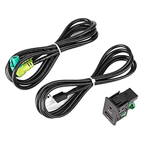 AUX-kabeladapter, auto-ABS-kunststof radio GPS-navigatiekabel USB AUX in stekkerdoos kabelbouwadapter geschikt voor E87lCI/E88/E90