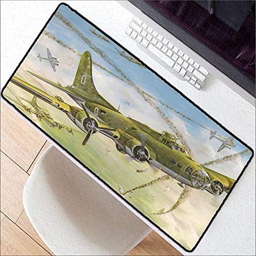 HonGHUAHUI plat vliegtuig vliegen bij zonsondergang-nieuwe grote afsluit-hogesnelheidsrand muismat spel muismatten, 400 x 800 x 2 mm.