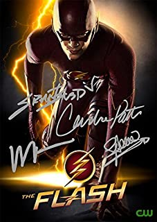 The Flash TV Series Print - Cast Grant Gustin Wentworth Miller Candice Patton Stephen Amell (11.7