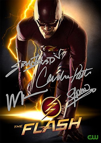 The Flash TV Series Print - Cast Grant Gustin Wentworth Miller Candice Patton Stephen Amell (11.7' X 8.3')