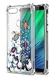 Suhctup Compatible pour Xiaomi POCO F2 Pro Coque Silicone Transparent avec Clear Motif Mignon Animal Design Étui Housse Coussin d'Air Souple Doux TPU Anti-Choc Protection Cover,Tortue de mer 4