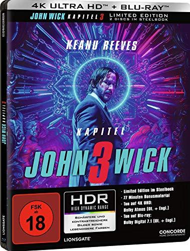 John Wick: Kapitel 3 (Steelbook) (4k Uhd) [Blu-Ray] [Import]